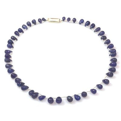 Natural Tanzanite Teardrop Beads Necklace 122.25 ctw