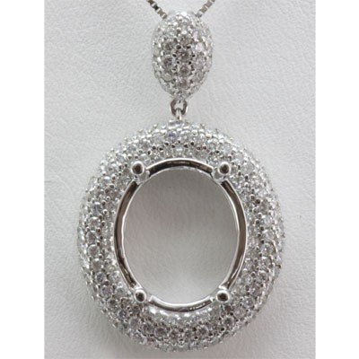 Genuine 1.35 ctw Round Cut Diamond Pendant 18k