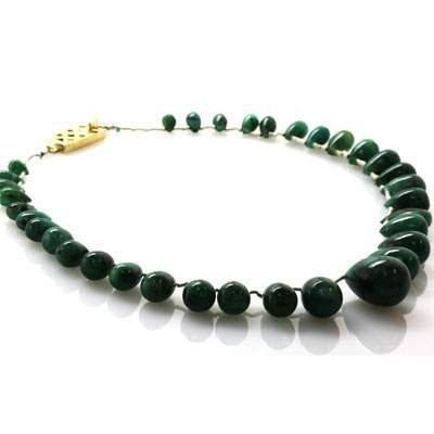Emerald round pear shape 80.0 ctw Necklace