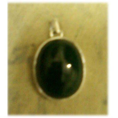 Emerald Gemstone set in Silver Pendant