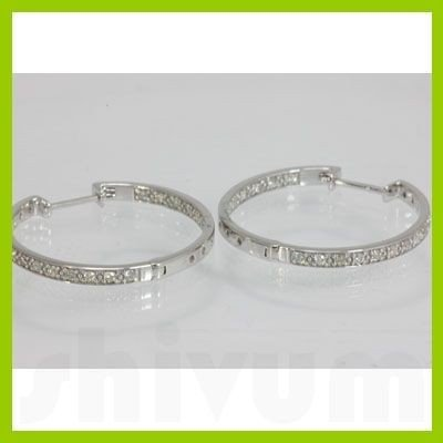 Genuine 0.41 ctw Diamond Earring 14kt Gold-White