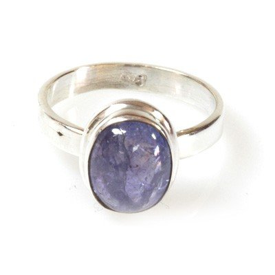 Natural Tanzanite 4.10g Oval Ring .925 Sterling Silver