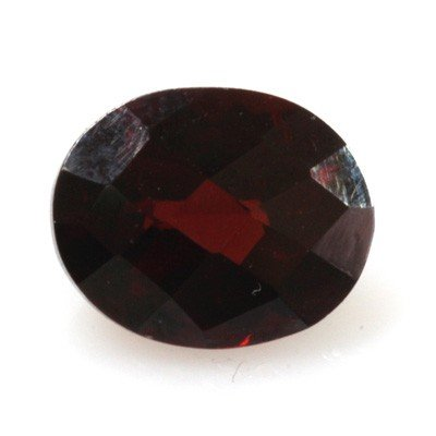 Natural 3.13ctw Garnet Checker Board Oval Stone
