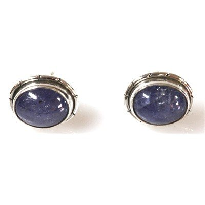 Natural Tanzanite 4.64g Oval Earrings .925 Sterling