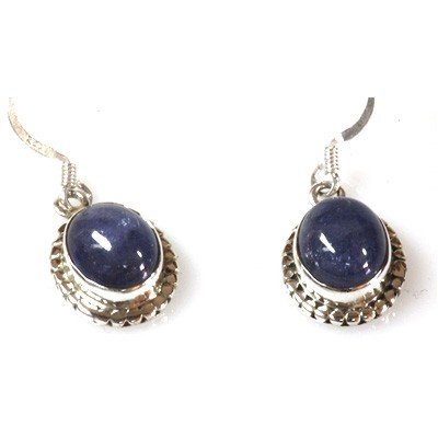 Natural Tanzanite 4.11g Oval Earrings .925 Sterling