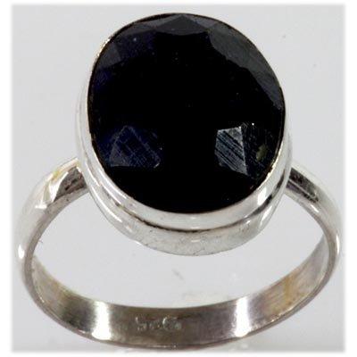 27.41 ctw Dark Blue Sapphire 0.925 Sterling Silver Ring