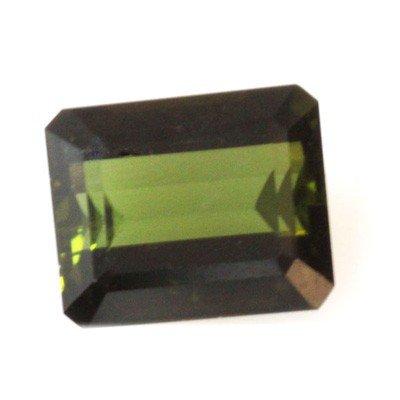 Natural 4.14ctw Green Tourmaline Emerald Cut 9x11 Stone