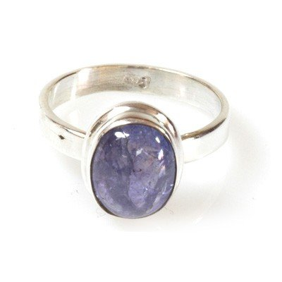 Natural Tanzanite 4.41g Oval Ring .925 Sterling Silver