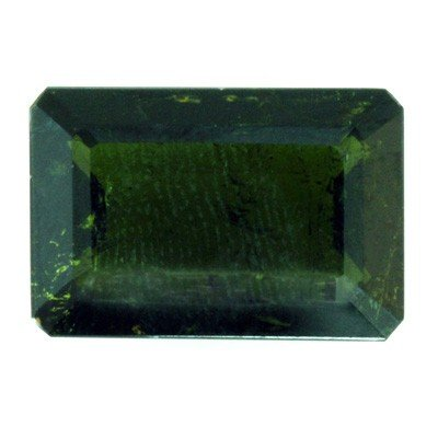 Natural 8.05ctw Green Tourmaline Emerald Cut Stone