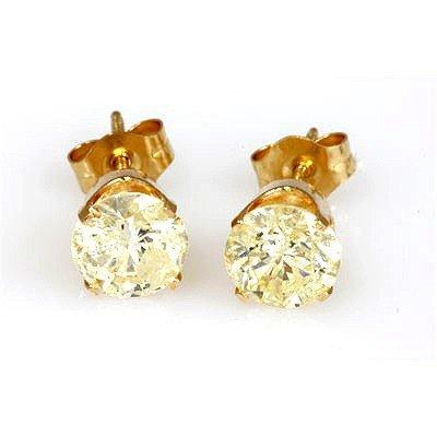 1.50 ctw Diamond Stud Earring 14KT Y/Gold