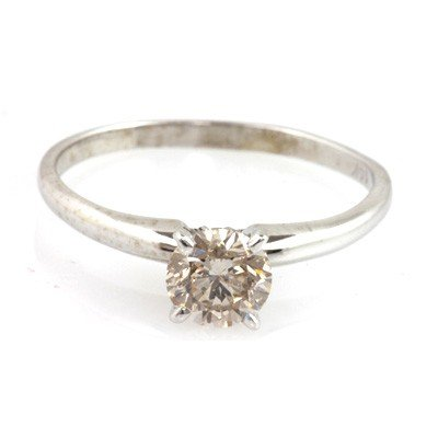 Certified Round SI1/SI2 Solitaire Ring 0.70 ctw
