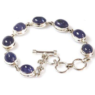Natural Tanzanite 19.99grm Oval Bracelet .925 Sterling