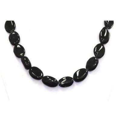 Natural Black Tourmaline  Beads Necklace