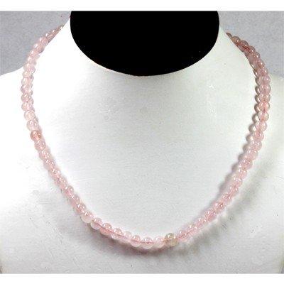 123.22  ctw Rose Quarts Round Beads Necklace