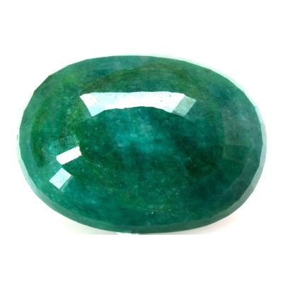 Natural 123ctw Emerald Oval Stone