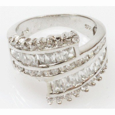 Natural 5.41g CZ Ring .925 Sterling Silver