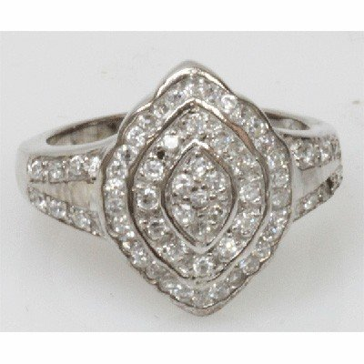 Natural 5.36g CZ Ring .925 Sterling Silver