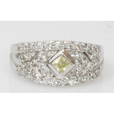 Natural 4.63g CZ Ring .925 Sterling Silver