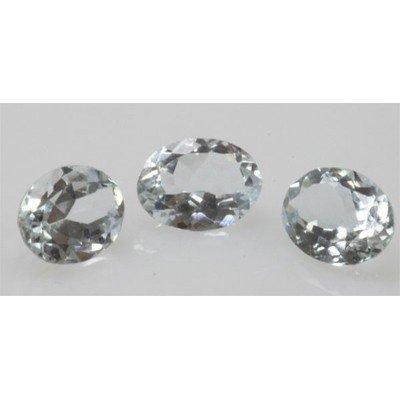 Natural 2.79ctw Aquamarine Oval (3) Stone