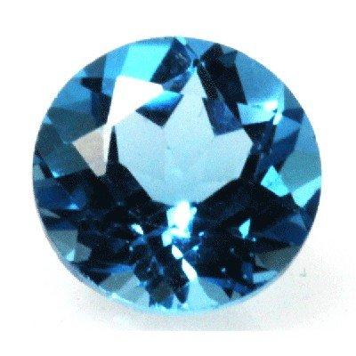 Natural 3.13ctw Blue Topaz Round 9x9 Stone