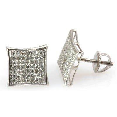 Genuine 0.33 ctw Round Cut Diamond Earring 10k