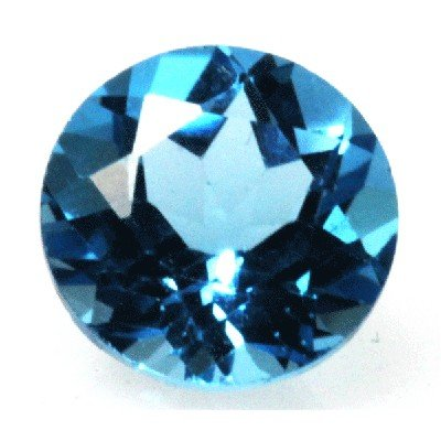 Natural 3.38ctw Blue Topaz Round 9x9 Stone