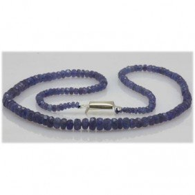 Natural 61.17ctw Tanzanite Graduated Necklace