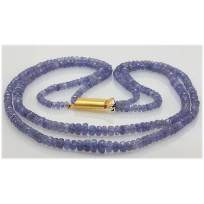 Natural 137.49ctw Tanzanite Graduated 2 Rows Necklace