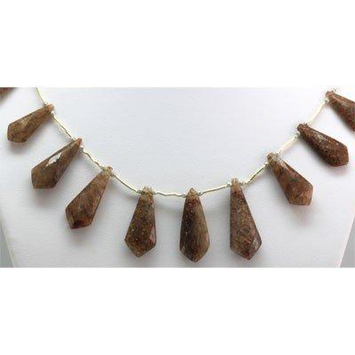 Natural Brown Quartz Briolette Necklace 139.25 ctw
