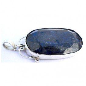 Natural 171.6 ctw Sapphire Oval .925 Sterling Pendant