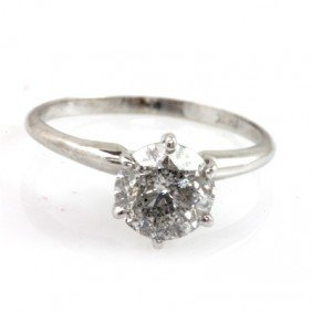 Certified Round I1/I2, H Solitaire Ring 1.75 ctw