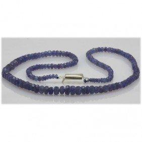 Natural 91.19ctw Tanzanite Graduated Necklace