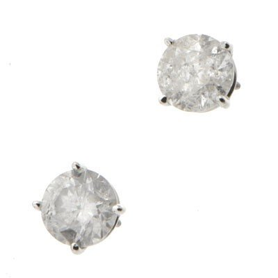 Genuine Diamond Stud Earring 3ctw Diamond Earring 14K