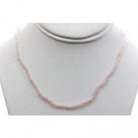 Rose Quartz 26.50 Ctw Necklace