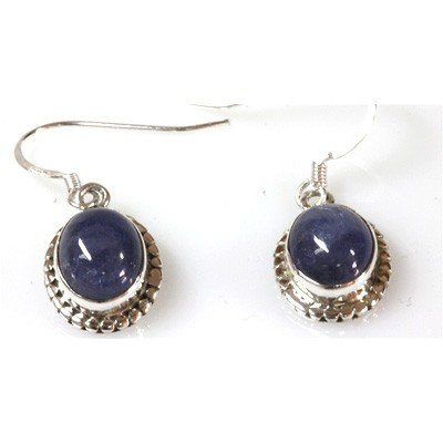 Natural Tanzanite 5.77g Oval Earrings .925 Sterling