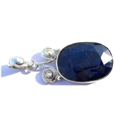 Natural 35.15 ctw Sapphire .925 Sterling Pendant