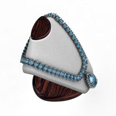 Topaz 64.24 ctw & Diamond Necklace 14kt White or Yellow