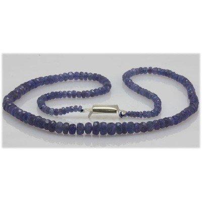 Natural 70.29ctw Tanzanite Graduated Necklace