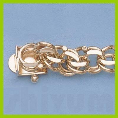 "Genuine 7"" 14k  Gold-Yellow  7.0mm Charm Bracelets 15g"