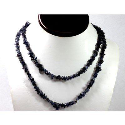 267.39 ctw Natural Iolite Un-cut bead Necklace