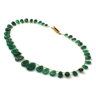 Natural Emeralds Graduated Necklace 109.00 ctw