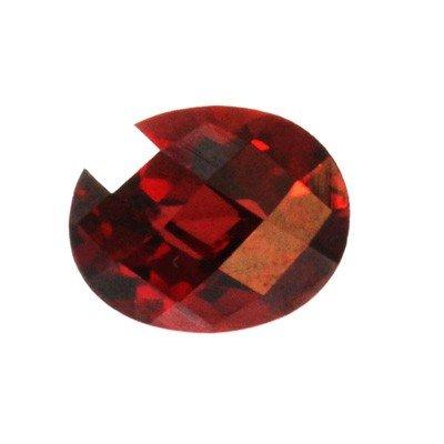 Natural 3.32ctw Garnet Checker Board Oval 8x10 Stone