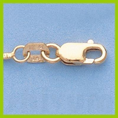 "Genuine 16"" 14k  Gold-Yellow  1.1mm DC Snake Chain 4.9g"