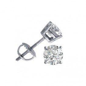 2.50 Ctw Round Cut Diamond Stud Earrings, G-K, SI-I