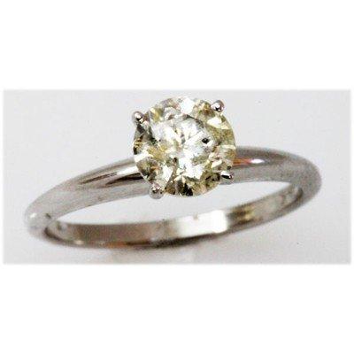 Diamond 1.07 ctw Solitaire 14k White Gold