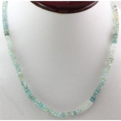 Aqua Marine beads 61.60 ctw Necklace