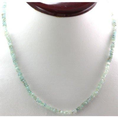 Aqua Marine beads 61.60 ctw Necklace - 2
