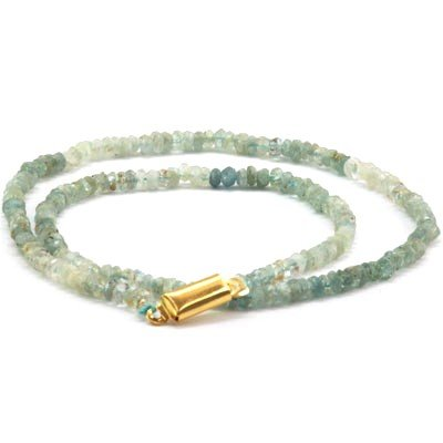 Aqua Marine beads 61.60 ctw Necklace - 3