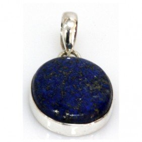 Natural 32.12 ctw Lapis Oval .925 Sterling Pendant