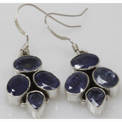 Natural 9.1g Tanzanite Earrings .925 Sterling Silver